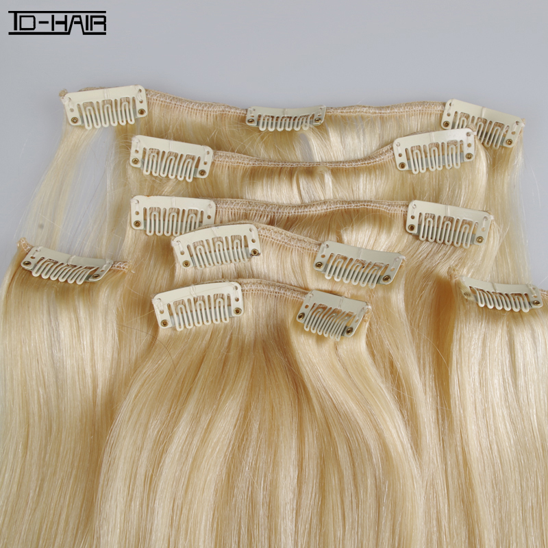 8a Brazilian Human Hair Clip In Human Hair Extensions 28inches Clip