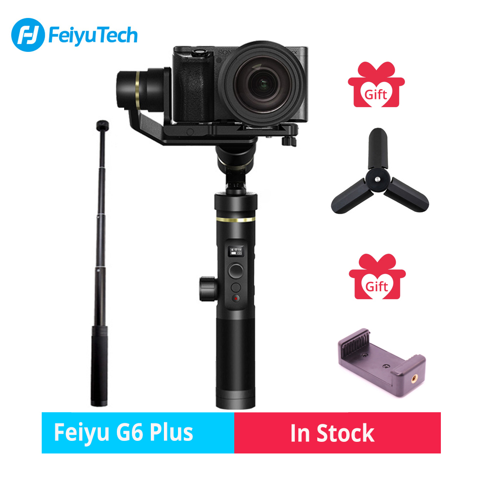 Feiyutech Feiyu G6 Più Spruzzi Handheld Gimbal Stabilizzatore per Smartphone Iphone Gopro hero macchina fotografica di azione/Mirrorless camera