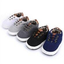Детская обувь с мягкой подошвой для малышей Повседневная однотонная летняя обувь для маленьких мальчиков и девочек 0-18 месяцев
