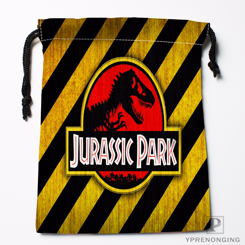 Custom JURASSIC PARK Drawstring Bags Travel Storage Mini Pouch Swim Hiking Toy Bag Size 18x22cm#0412-03-22