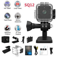 SQ12 Waterproof mini camera HD 1080P DVR Lens Sports Camcorders Support Infrared Night Vision Motion Detection