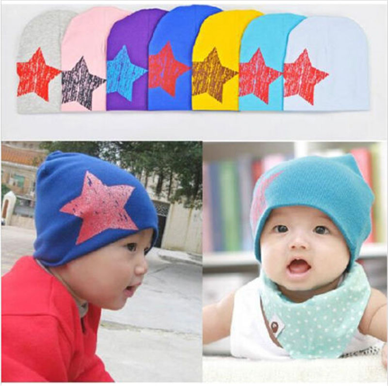 Unisex Baby Boy Girl Kid Toddler Children Cotton Soft Cap Star Beanie Hat baby kid girl boy toddler animal print beanie cap newborn cotton soft hat