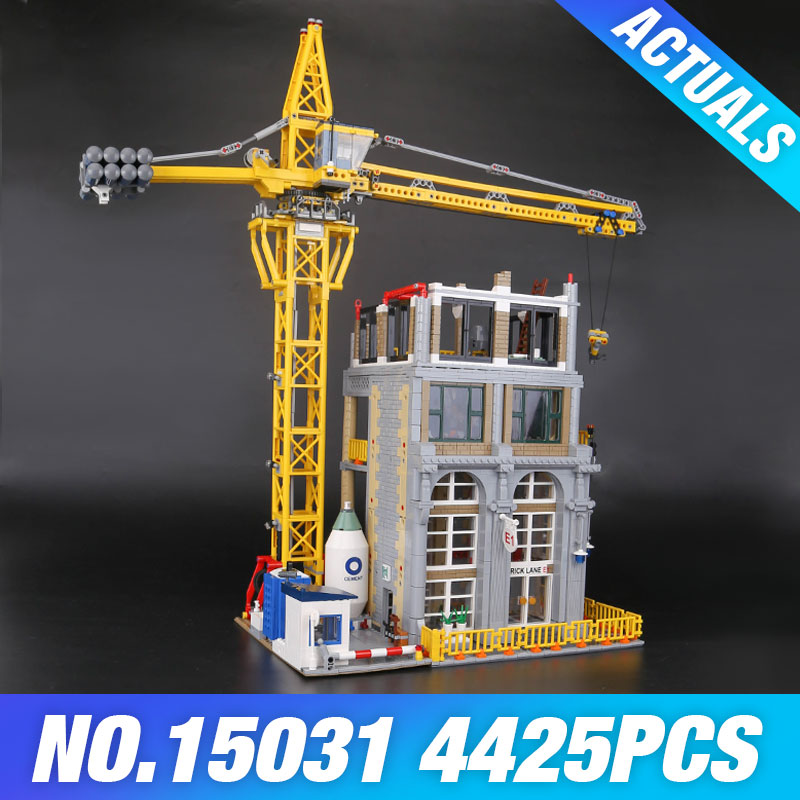 Lepin 15031 Genuine The construction with Crane Set Educational MOC Building Series Building Blocks Bricks Christmas Gifts Kids