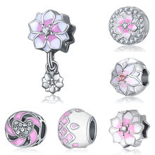 bracelet charms silver joyas de plata 925 original spacer beads for jewelry making reflexions butterfly charm(China)