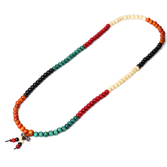 Fashion Women Mens Costume Jewelry Beaded Chains Necklace Wood Beads