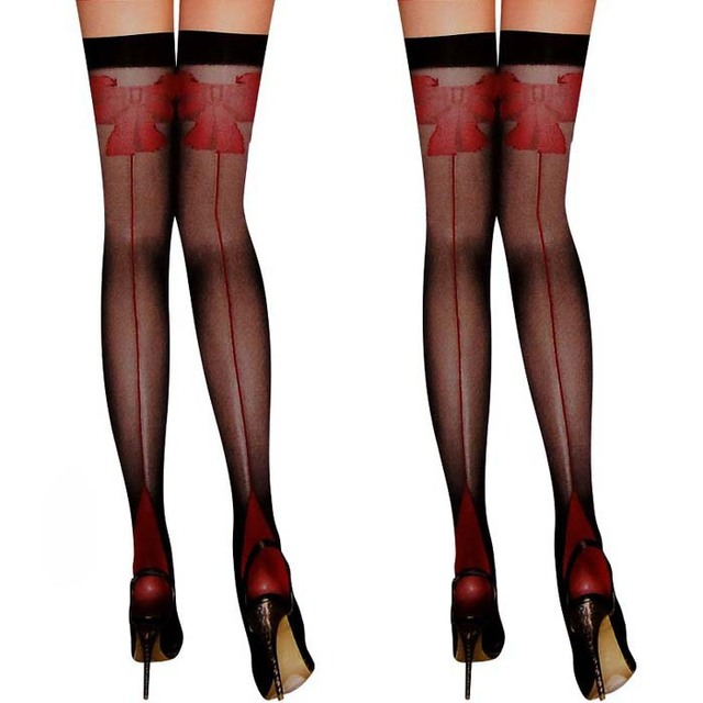 585d9752a65 Sexy Black Silk Stockings Garter Stockings Womens Sheer Lace Top Thigh High  Stockings Free Shipping