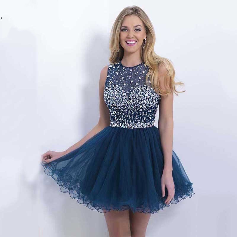 Online Get Cheap Navy Blue Prom Dress Short Sparkly -Aliexpress ...