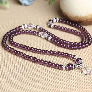 Image 4 -   Fine Jewelry Hot sale! 6mm Crystal Stone 108 Prayer Beads Mala Bracelet Necklace