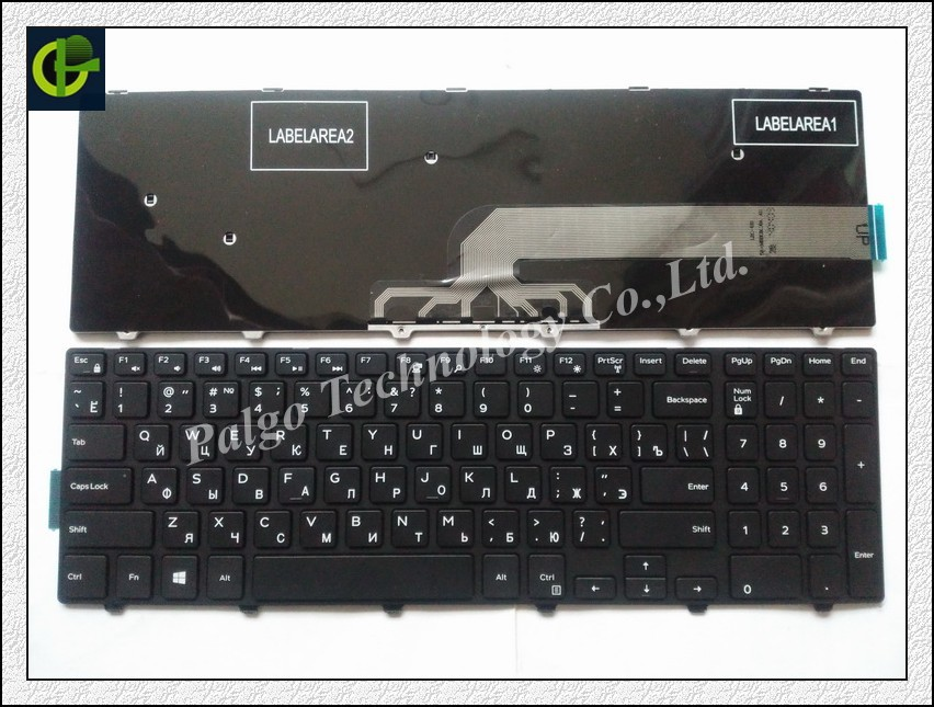 Russian Keyboard For DELL Inspiron P26E P28E 5557 P39F P40F MP-13N73SU-442 MP-13N7 CN-0JYP58 CN-0HHCC8-72438 CN-0HHCC8-75525 RU