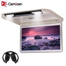 Cemicen 13.3 Pouce Voiture Plafond Moniteur avec Plein 1920*1080 Flip écran Toit Mount MP5 Lecteur HDMI USB SD IR FM Émetteur