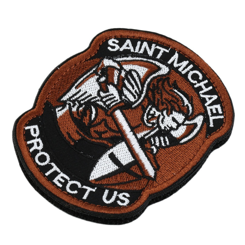 1PC Saint Micheal Badger Military Tactical Army Morale Combat Multicam Patch Clothes Backpack Badges