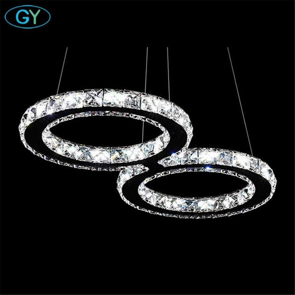 AC110-220V 24W 8 Number 60*30cm modern crystal chandelier LED hanging lamp for home living room kitchen dining room lamparas led