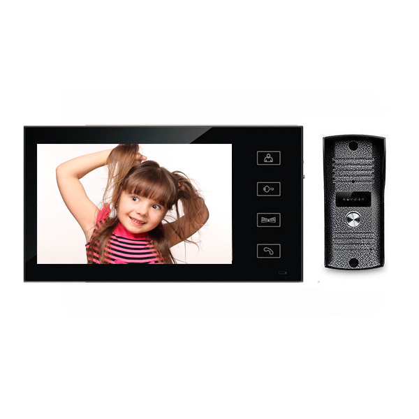 7 Inch touch Color LCD Video Door Phone Intercom System Door Viewer Infrared Night Vision Waterproof door bell camera