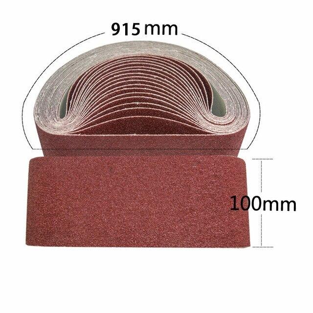 3 pièces bande Abrasive Abrasive en oxyde daluminium grain 40 #-600 #100*915mm accessoires de polissage de meulage outil de ponceuse