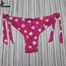 EONAR Thong Bikini Bottom Swimsuit 2018 Brazilian Cut Cheeky Swimwear Bottom Floral Micro Bikini  Side Ties Biquini Swim Suits блесна колеб lucky john tr ima длин 26мм 02 1г 006