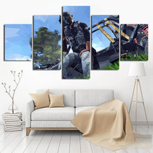 Home Decor Pictures Wall Art 5 Set/Pcs Jedi Survival Battle Game Painting Canvas Printed Poster Living Room Modular Framework(China)