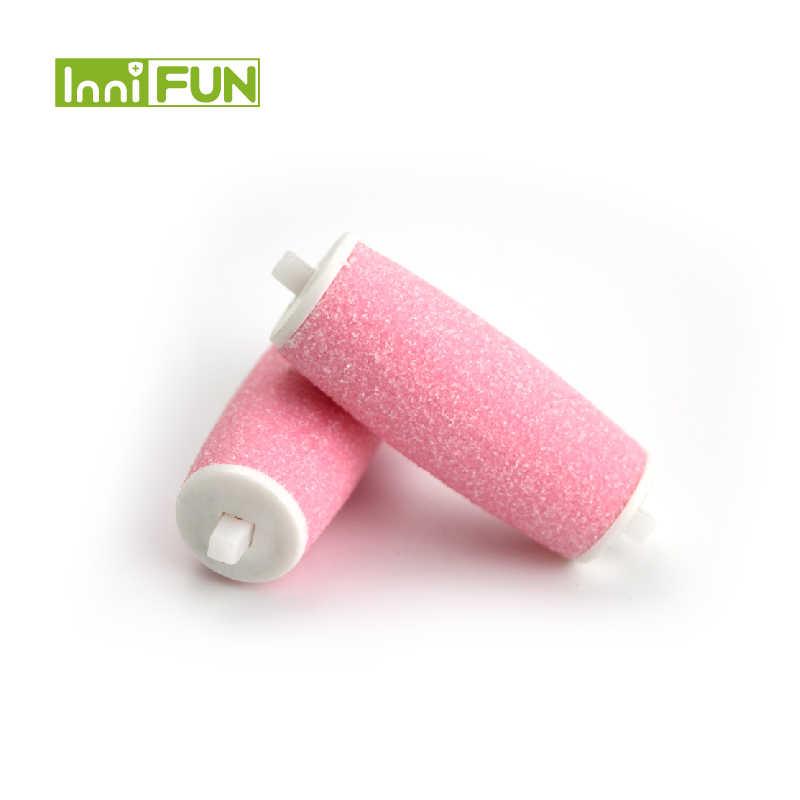 Hot 2 pz/pacco Rullo di Ricambio Teste Per Scholls Pedi di Rimozione Della Pelle di Riparazione Piede di Rettifica Macchina Peeling Dispositivo di Pedicure