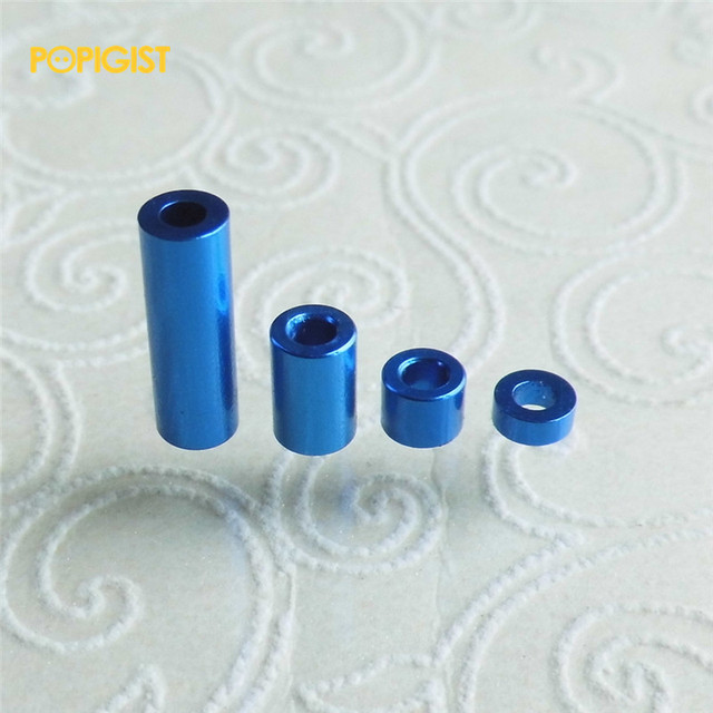POPIGIST Mini 4wd Aluminum Spacer Self-made Parts For Tamiya MINI 4WD Aluminum Spacer Set  From 1.5mm To 12mm S003  10Sets /lot