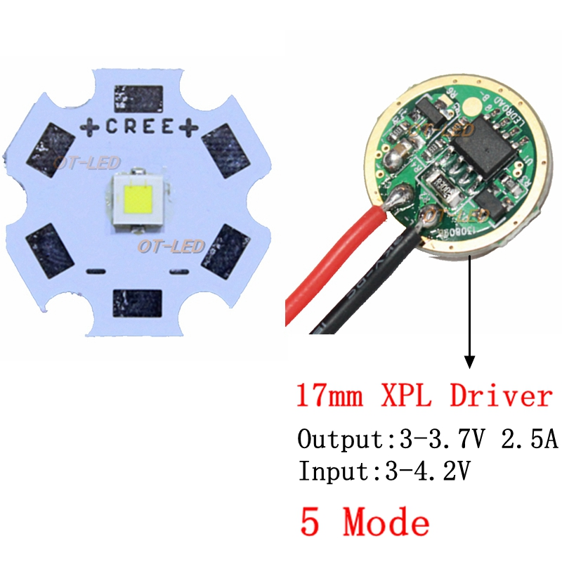 NEW CREE 10W XPL Hi XP-L Hi V5 V6 Led Emitter Light Cold WHITE Diode Chip +16mm 2.5A or  ...