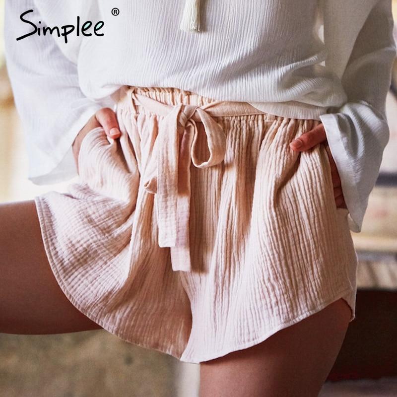 9969c7baa5 ... Simplee Bow streetwear high waist shorts women Fashion summer beach  sash shorts sexy Elastic casual cotton short black shorts. Out Of Stock. 🔍  Previous