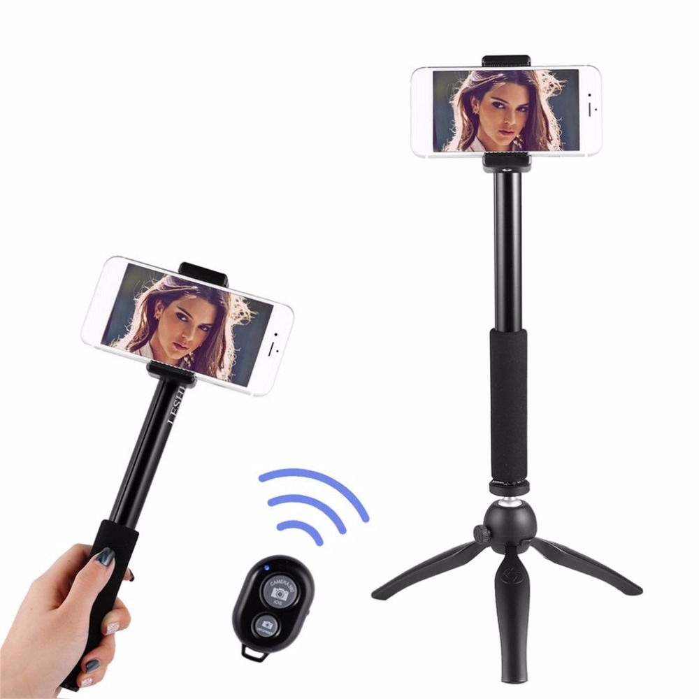 LESHP Tabletop Selfie Stick Monopod with Bluetooth Remote & Tripod Stand & Mobile Phone Holder for Cell Phone & Tablets