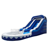 Inflatable Water Slide for pool inflatable water slide with pool air blower