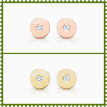 SHINETUNG 100%S925 Sterling Silver New Round Zircon Letter Stud Earrings Rose Golden Gold Selection Women Romance Jewelry