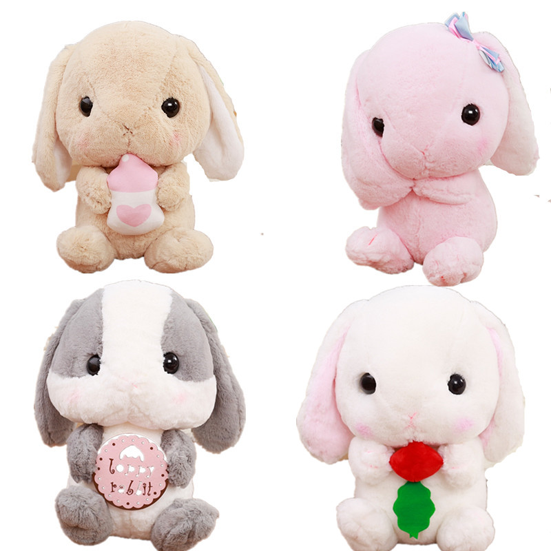 1pc 22cm New Kawaii Long Ears Rabbit Plush Toys Amuse Lolita Loppy Kids Love Doll Staffed Toys Car Decoration Valentine's Gift