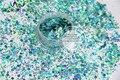 H2151-147 mezcla holográfico azul colores hexágono shapes Glitter para el arte del clavo y la decoración de DIY 1 Pack = 50 g