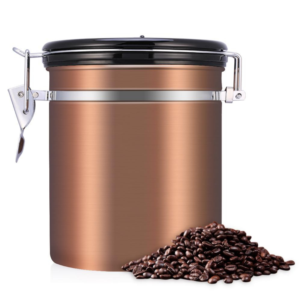 Coffee Container Airtight Stainless Steel Tea Storage Chests