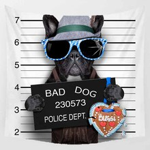 цены Hot sale funny dog with the sunglasses   patterns wall hanging tapestry home decoration wall tapestry tapiz pared 1500mm*1500mm