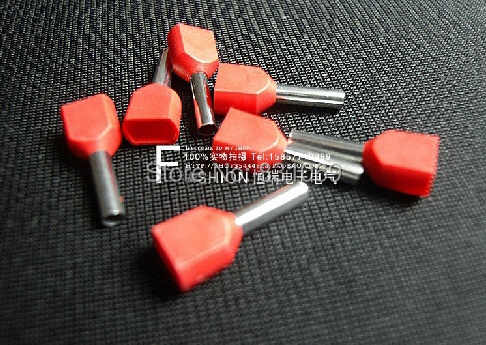 500pcs 10 AWG 6.0mm² Pre-Insulated Terminals Wire Ferrules End Sleeve TE6014