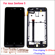Tested LCD Screen display+touch sreen Digitizer Glass Lens Sensor Assembly+Bezel Frame For Asus Zenfone 5 A500CG A501CG+Tracking