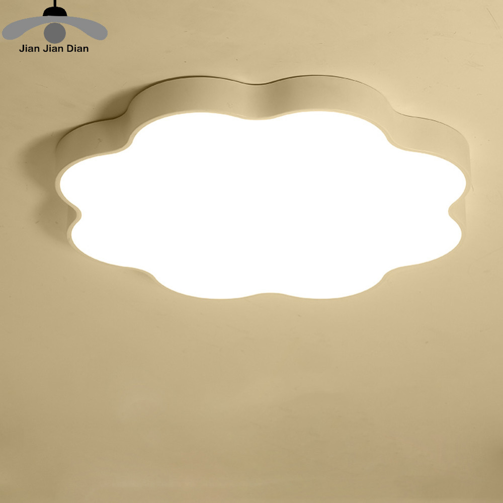 JJD Ultra-thin Simple Modern Led Bedroom Ceiling Lights Children 's Clouds Ceiling Lamps Creative Cartoon Kindergarten Lamps modern minimalist ceiling lamps led lamps lighting acrylic stars children s room warm ultra thin bedroom lamp