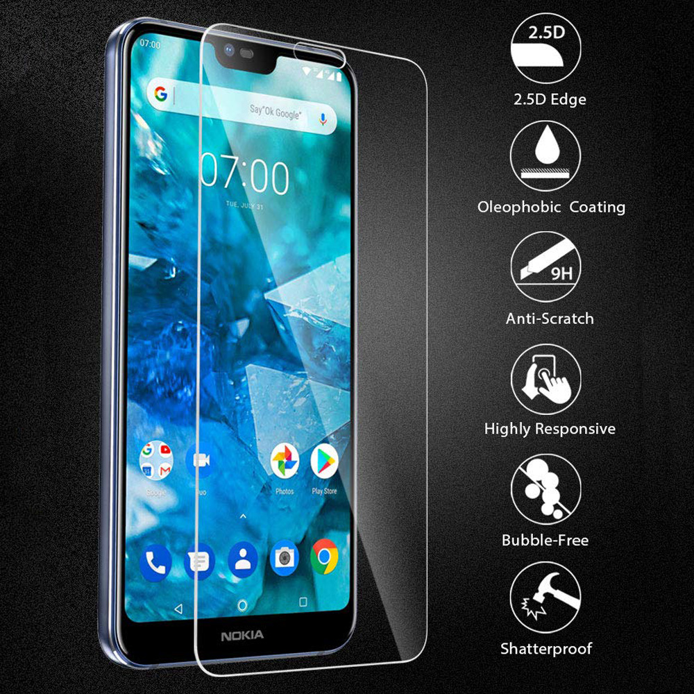 9H 2.5D <font><b>Screen</b></font> <font><b>Protectors</b></font> For <font><b>Nokia</b></font> 2.1 3.1 <font><b>5.1</b></font> 6.1 7.1 Tempered Glass For <font><b>Nokia</b></font> 7 plus X5 X6 Protective Film 2 3 5 6 7 2018 image
