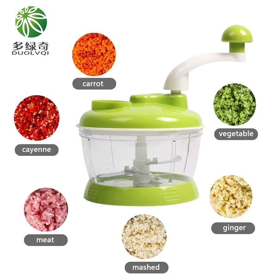 DUOLVQI Round Spiral Vegetable Slicer Manual Multifunctional Vegetable Cutter Mini Portable Blender Food Chopper Kitchen Tools