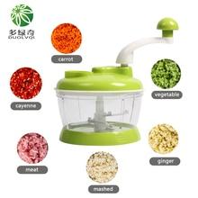 DUOLVQI Round Spiral Vegetable Slicer Manual Multifunctional Vegetable Cutter Mini Portable Blender