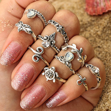 Fashion Ring Set Punk Gold Knuckle Rings for women Finger Rings Ring Set Bague Femme Jewelry Anillos Aneis 4 pcs set boho ring set 2019 fashion jewelry hollow compass rhinestone shell wedding ring set punk gold knuckle rings party gift