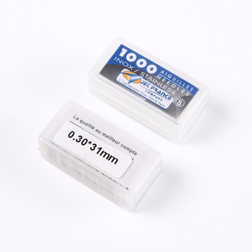 Agulhas de Tatuagem Pçs/lote 0.30x31mm 0.20mm 0.25mm 0.35mm