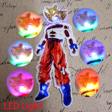 Pulaqi Punk Stripe Rock Super Saiyan Patch LED Light Sequins Patches On Clothes Sewing On Embroidered Anime Patches For Clothing sequins patches avengers led light patch embroidered patches for clothes diy sewing on patches for clothing applique stripe f
