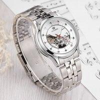 OUYAWEI Frau Armband Uhr Skeleton Mechanische Armbanduhr Orologio Automatico da Donna Damen Kristall Uhr Montre Femme-in Damenuhren aus Uhren bei