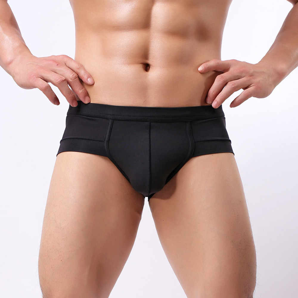 Cotton Men's Underwear New Sexy Solid Color Home Low Waist Soft and Comfortable Breathable Briefs Fashion Casual Daily Bragas #Z