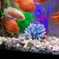 beautiful resin coral reef yellow/blue 15*14*13cm artificial fish tank ornament for aquarium decoration