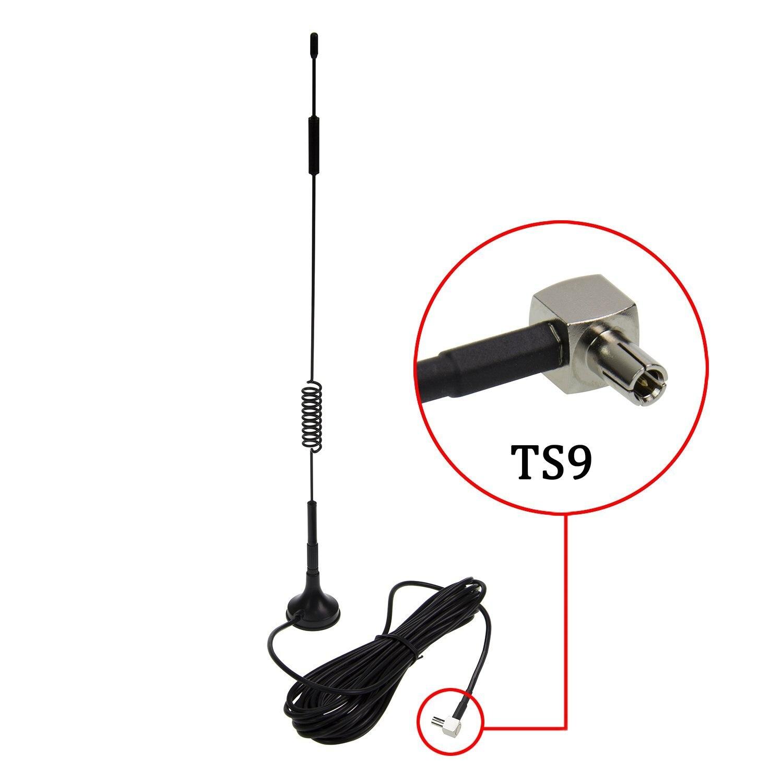 Eightwood TS9 Connecteur 7dbi Antenne À Gain Élevé 4G LTE CPRS GSM 3G 2.4G WCDMA Omni Directionnelle Antenne Magnétique Stand Base 5 m RG174