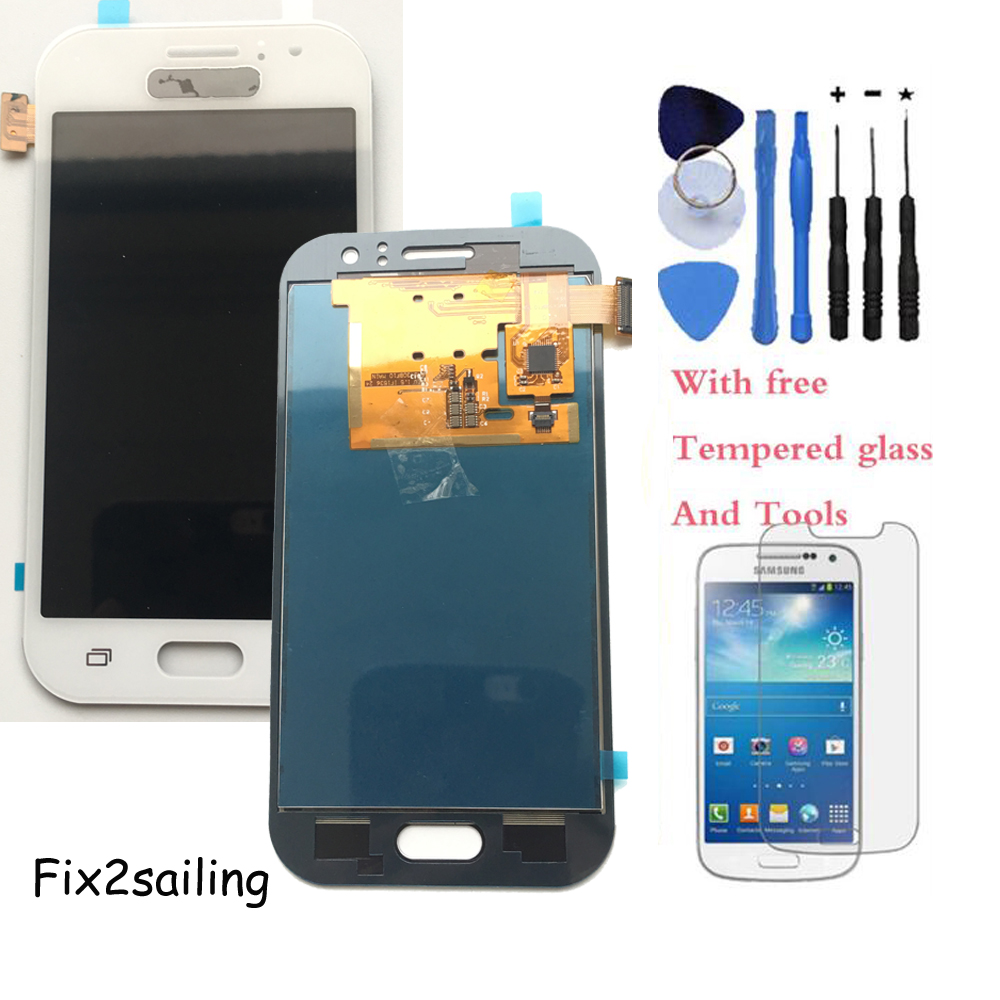 New LCD Display Touch screen with digitizer Assembly For Samsung Galaxy  J1 Ace J110 SM-J110F J110H J110FM With Tools brand new lcd for samsung galaxy a3 a3000 a300 a300x a300f screen display with touch digitizer assembly