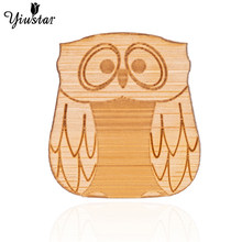 Yiustar Charming Sweet Cute Elegant Owl Brooch Wood Lapel Pin Charm Generous Love Bird brooch for Women Kids Girls Family Gifts(China)