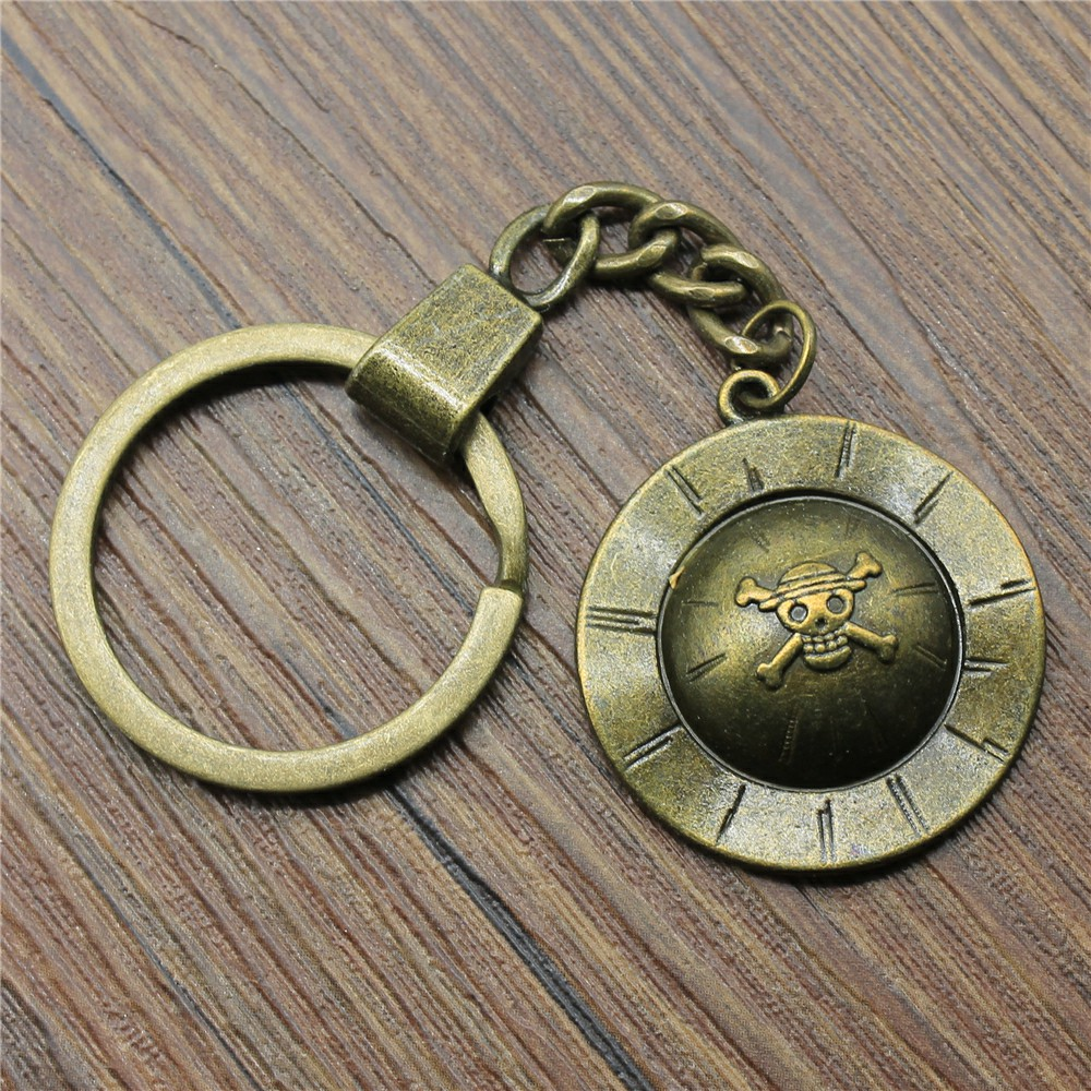 29mm Pirate Hat Keychain Antique Bronze Vintage Handmade Keychain Party Gift Jewelry Dropshipping