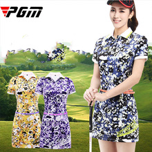 PGM Brand Logo New Golf One-piece Dress Woman Very Good Elasticity Anti-Wrinkle Anti-Pilling Comfortable Breathable dress S M L цена