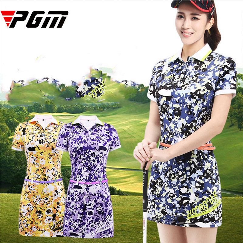 PGM Brand Logo New Golf One-piece Dress Woman Very Good Elasticity Anti-Wrinkle Anti-Pilling Comfortable Breathable dress S M L