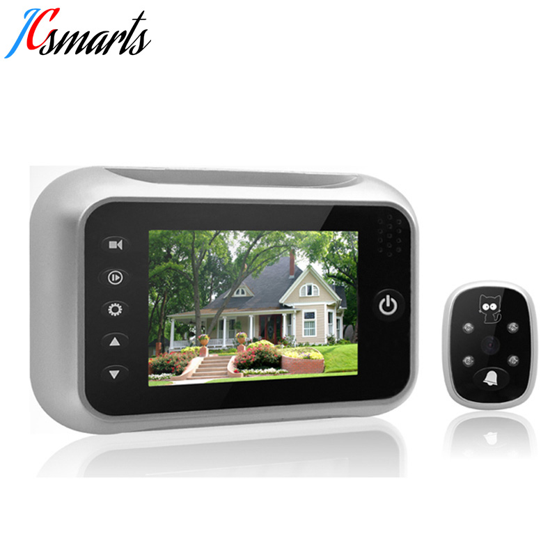 3.5 LCD Display Electronic Door Bell Viewer IR Night Vision Door Peephole Camera Photo/Video Recording Digital Door Camera